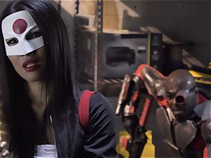 Suicide crew parody Sn 4 Ada Akira riding dark-hued stiffy