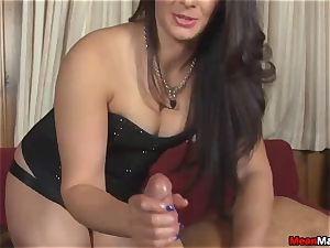 client perplexed To see The magnificent dark haired masseur