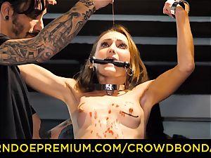CROWD bondage puny victim nymphomaniac fetish gang sex