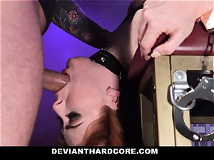 DeviantHardcore - super-steamy redhead Gets facehole drilled