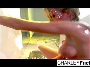Madison Scott and Charley haunt plumb