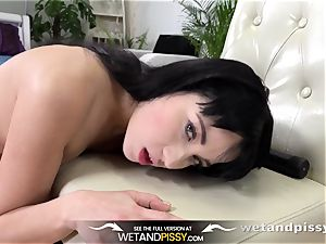 piss gulping - marvelous Russian swallows her own pee