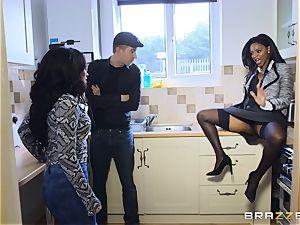 ebony hotty Jasmine Webb riding Danny D