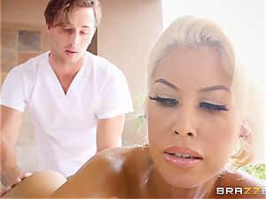 nasty huge-titted Bridgette B lubed up and boned in her taut gash