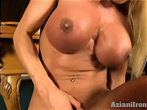 spectacular light-haired gets banged by the sybian