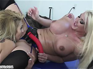 Mature wifey Leya Falcon punishes her husband's dominatrix