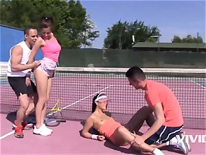 Antonia Sainz and Ana Rose In A Sporty bj Frousome