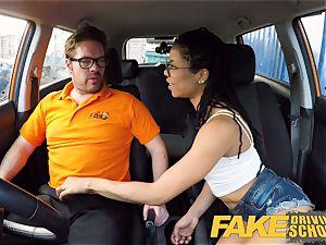 faux Driving school ebony yankee minx Kira Noir