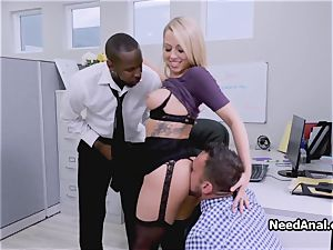 busty assistant dual boinked in the office