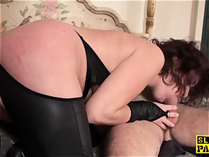 sandy-haired brit marionette bum-fucked and bound