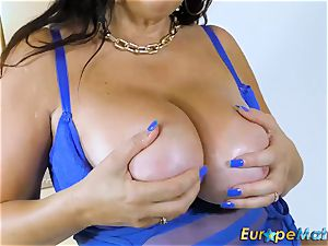 EuropeMaturE buxom Mature Lulu obese and ginormous melons