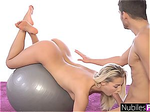 NubilesPorn - tight Blondes shaft deep throating exercise