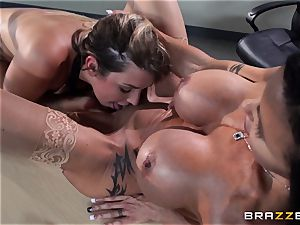 Jenna Ashley gets caught by her professor muddy chatting to her beau