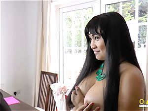 OldNannY Lacey Starr and Polynesian lezzy