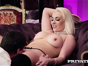 Private.com - huge-boobed Victoria Summers deep throats and screws