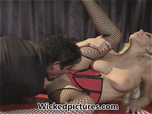 Cupid gets some sizzling cock for Breanne Benson