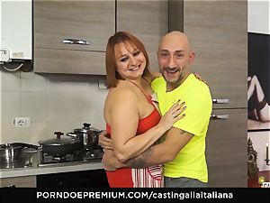 casting ALLA ITALIANA - Italian mature deep anal invasion tear up