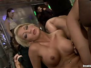Bibi Fox with cutie pals crammed with super-fucking-hot jizz