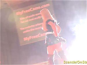 sizzling stepmom striptease on stage