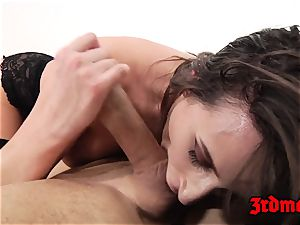 Ashley Adams rectally pounded on bed