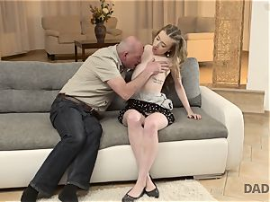 DADDY4K. fuckfest of dad and youthful doll completes with unexpected internal ejaculation