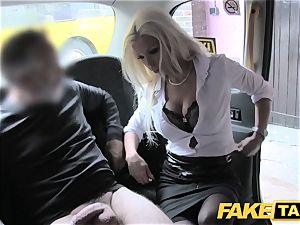 fake cab red-hot estate agent gets creampied