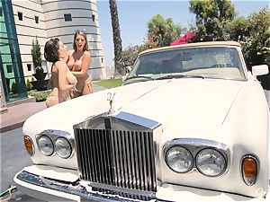 August Ames and Darcie Dolce get their butts bubbly