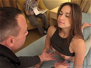 Sara Luvv Cuckolds Her husband and Makes him blow bone