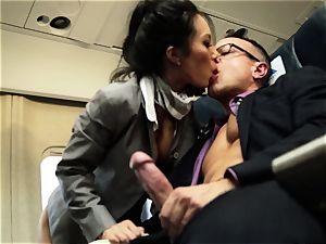 Asa Akira and her hostess mates ravage on flight