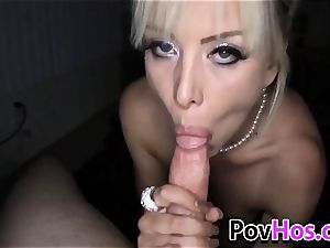 platinum-blonde fledgling point of view throating