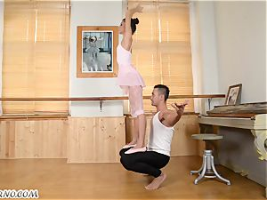 Russian pornography dancing on teacher's ginormous stave