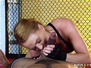 Krissy Lynn gets interracial pulverizing in the ring