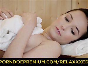 RELAXXXED - Sauna romp with latina honey Francys Belle