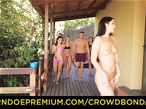 CROWD bondage Outdoor pool intercourse for super hot Loren Minardi