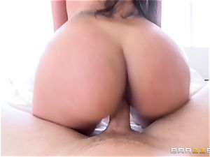 Kimberly Kendall gropes her gigantic udders as she romps